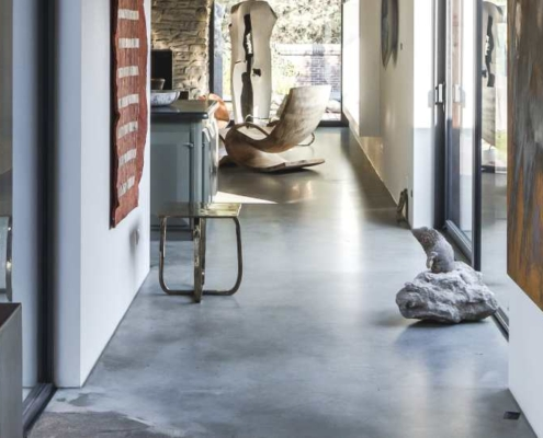 Betonnen designvloer - unieke vloer van woonbeton