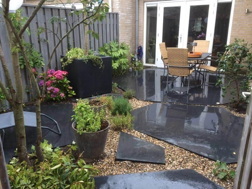 industriele betontegels tuin