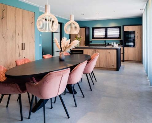 moderne keuken woonbetonvloer