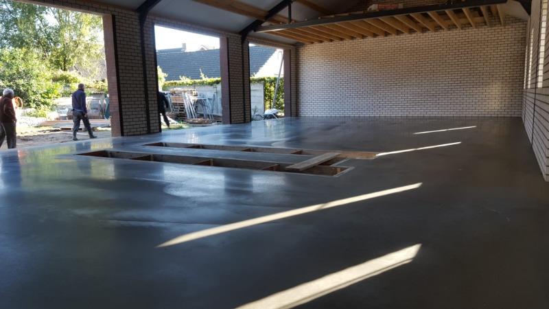 garagevloer beton vlinderen en impregneren
