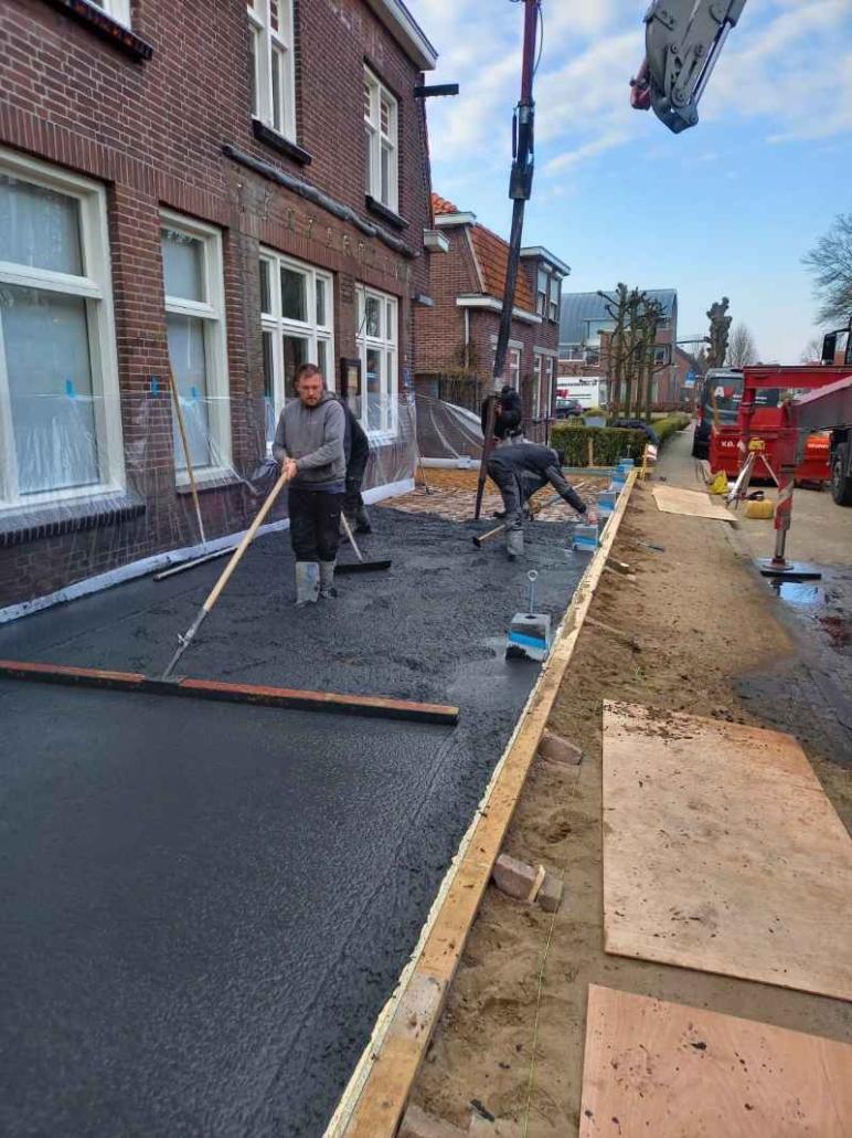 storten terras beton voor buitenterras café